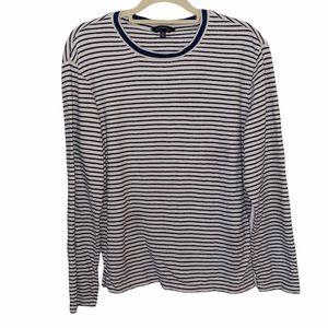 Club Monaco Striped Long Sleeve Shirt Size Medium